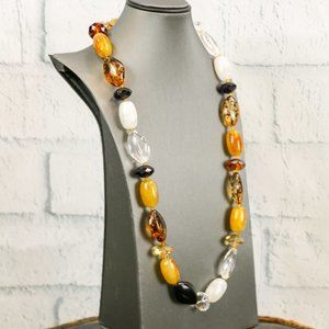Large Acrylic Bead Statement Necklace